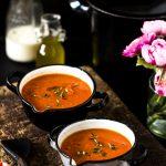 Einfache Tomatensuppe ist ein günstiger Klassiker,geht immer, ist supereasy und schnell zu kochen #suppe #rezepte #einfach #tomatensuppe #gesundessen #soulfood