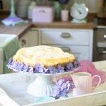 American Cheesecake mit Haferflockenkeksboden
