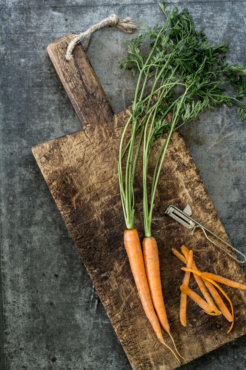 Karottengemuese mit Frikadellen
