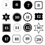 Countdown Adventskalender Zahlen zum Ausdrucken: kostenlose Vorlage als Download #adentskalender