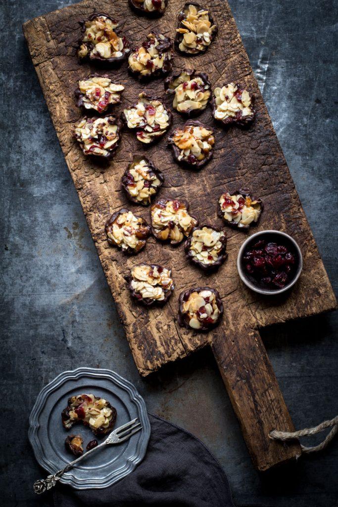 Florentiner Kekse ganz einfach selber backen #weihnachtsbäckerei #backen #kekse #florentinerkekse #plätzchen