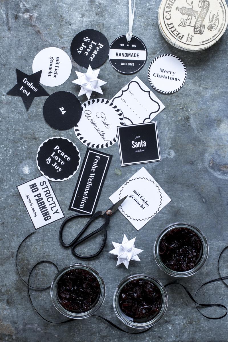 Weihnachtliche Geschenkanhänger zum Ausdrucken | Dee's Küche