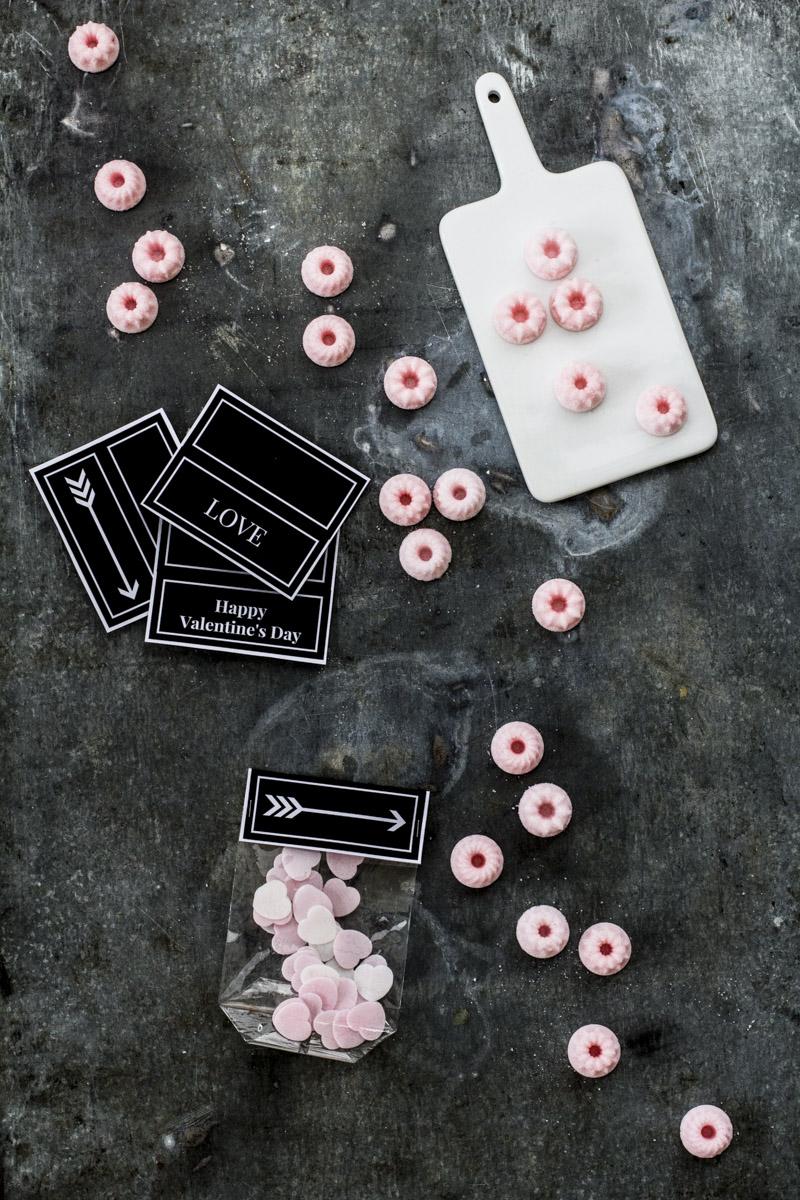 Rosa Zucker Gugl zum Verschenken ganz einfach selber machen