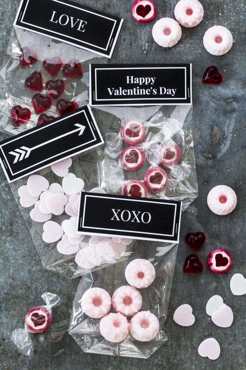 Zucker Gugl ganz einfach selber machen + Etiketten zum Ausdrucken zum Valentinstag