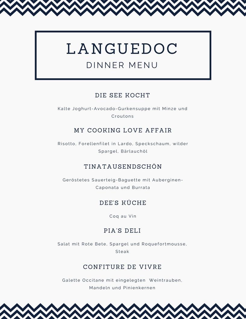 Menue Languedoc