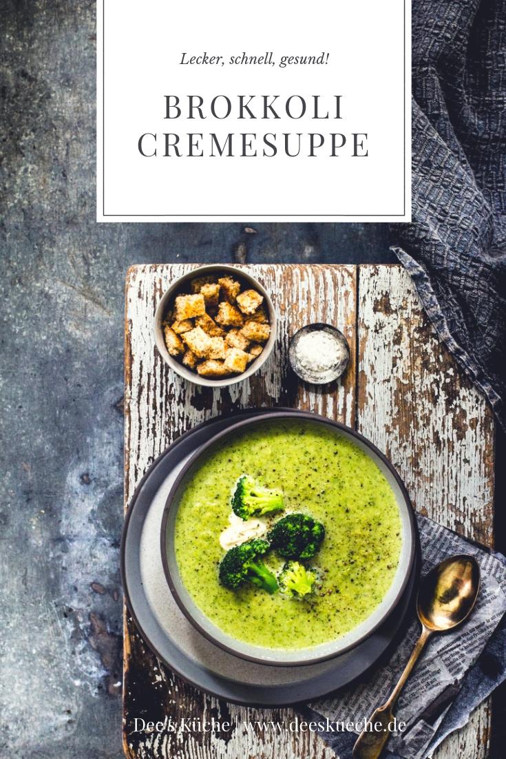Brokkolicremesuppe: einfach, schnell, günstig und lecker! #suppe #brokkoli #gemüse #einfach #rezept #brokkolicremesuppe