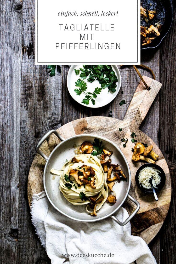 Tagliatelle mit Pfifferlingsauce - so einfach, so gut. #pasta #pilze #pfifferlinge #Nuseln #spaghetti #pastamitpilze #eingfach #rezept