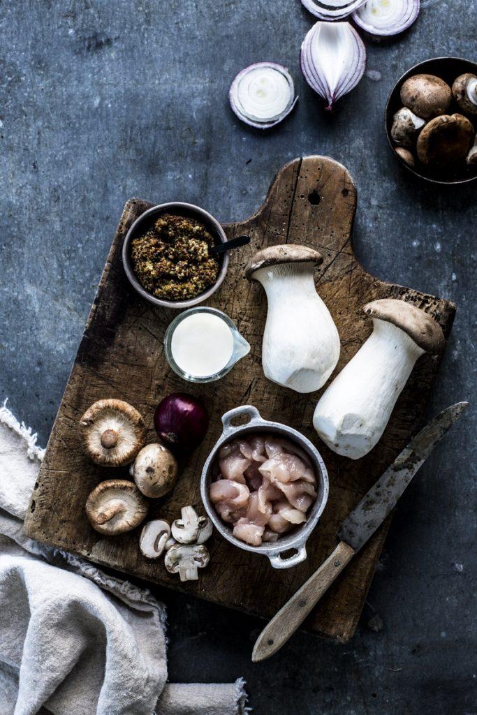Hähnchen in Senfsauce - diese Zutaten brauchst Du nur für dieses leckere Gericht aus dem Buch Jamies 5 Zutaten Küche