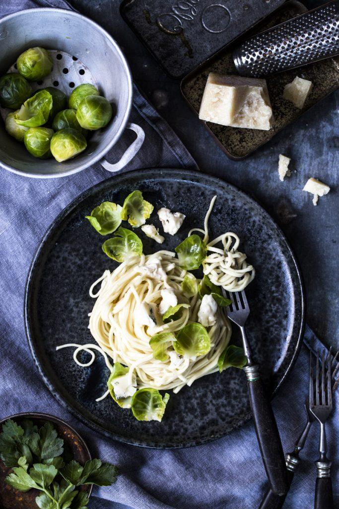 Spaghetti mit Gorgonzolasauce