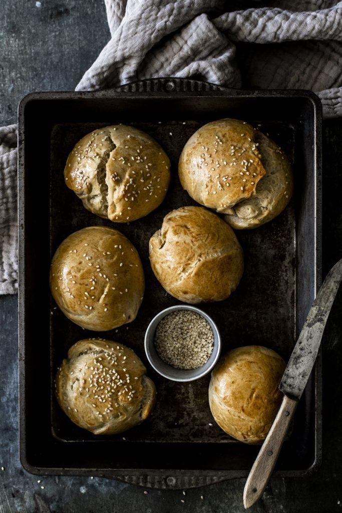 Brioche Burger Buns Rezept für den perfekten Hamburger #hamburger #burger #cheeseburger