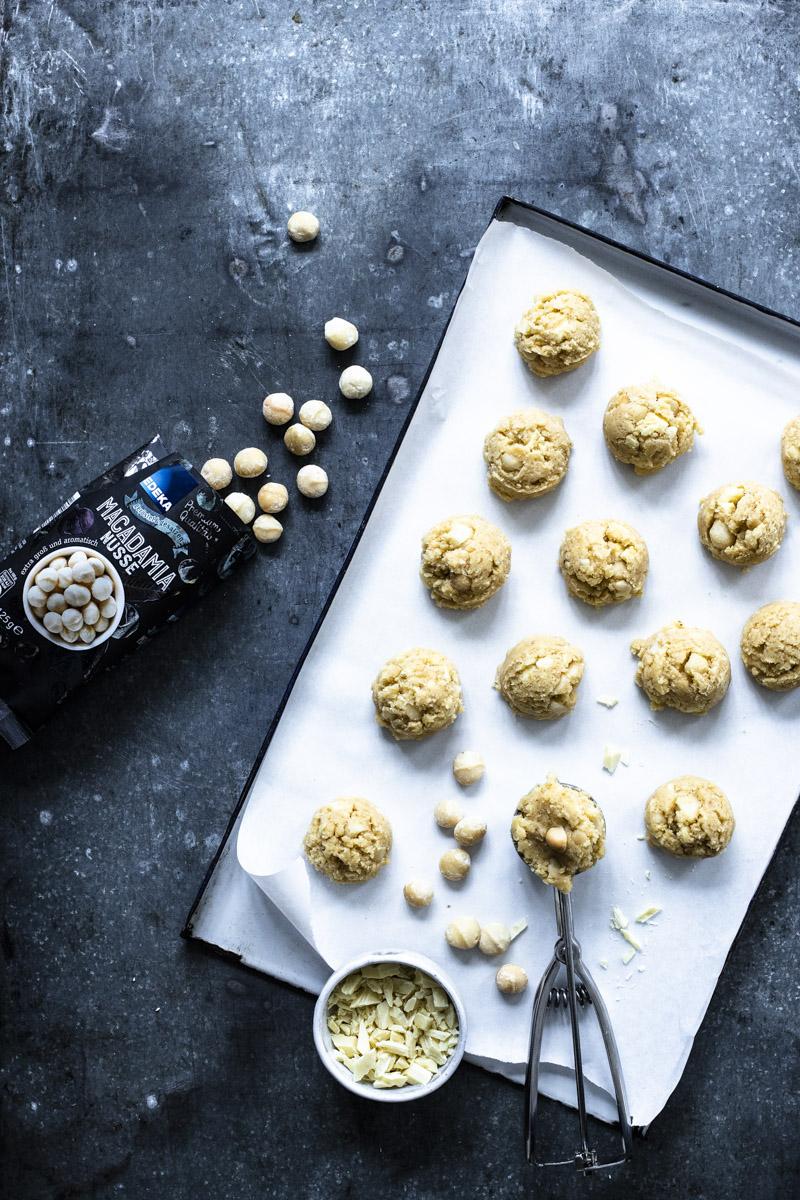 Macadamia Kekse selber backen #backen #plätzchen #weihnachtsplätzchen #cookies #macadamiacookies