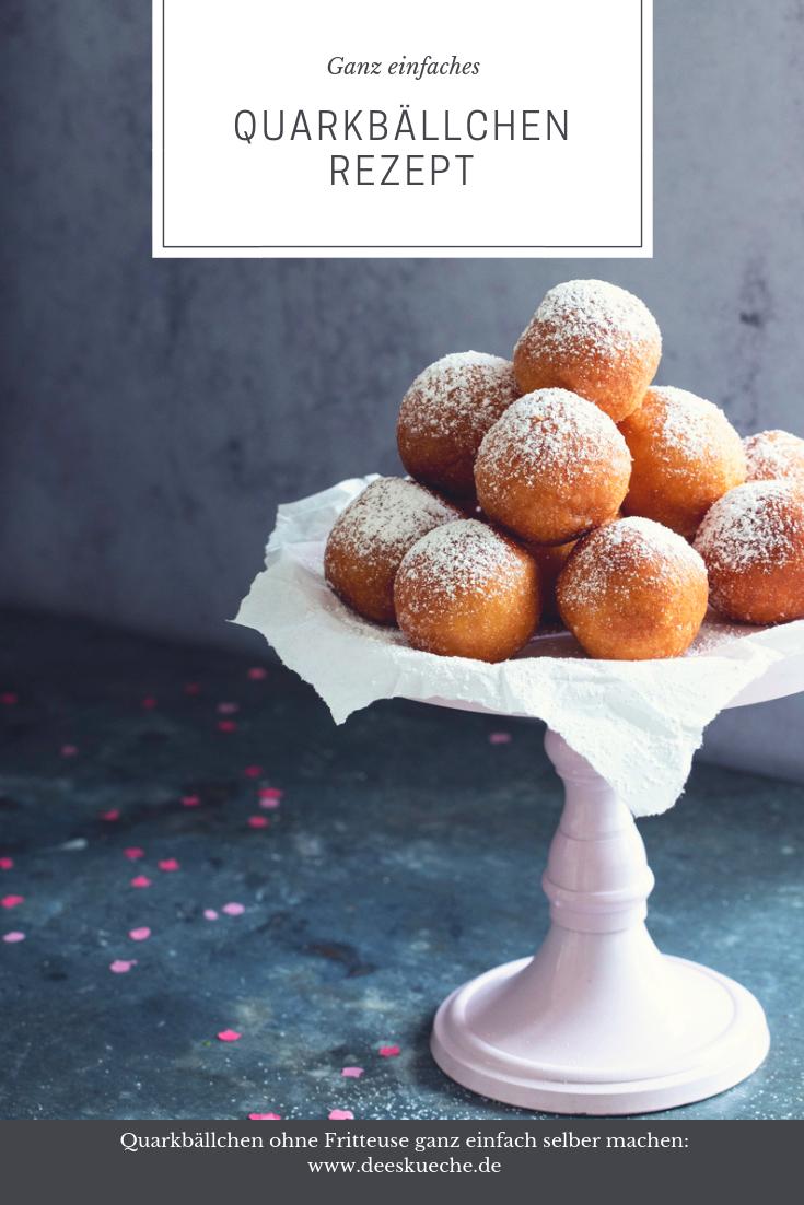 Quarkbällchen Rezept ohne Fritteuse - so einfach geht's #rezept #qurkbällchen #fluffig #einfach #fasching #thermomix