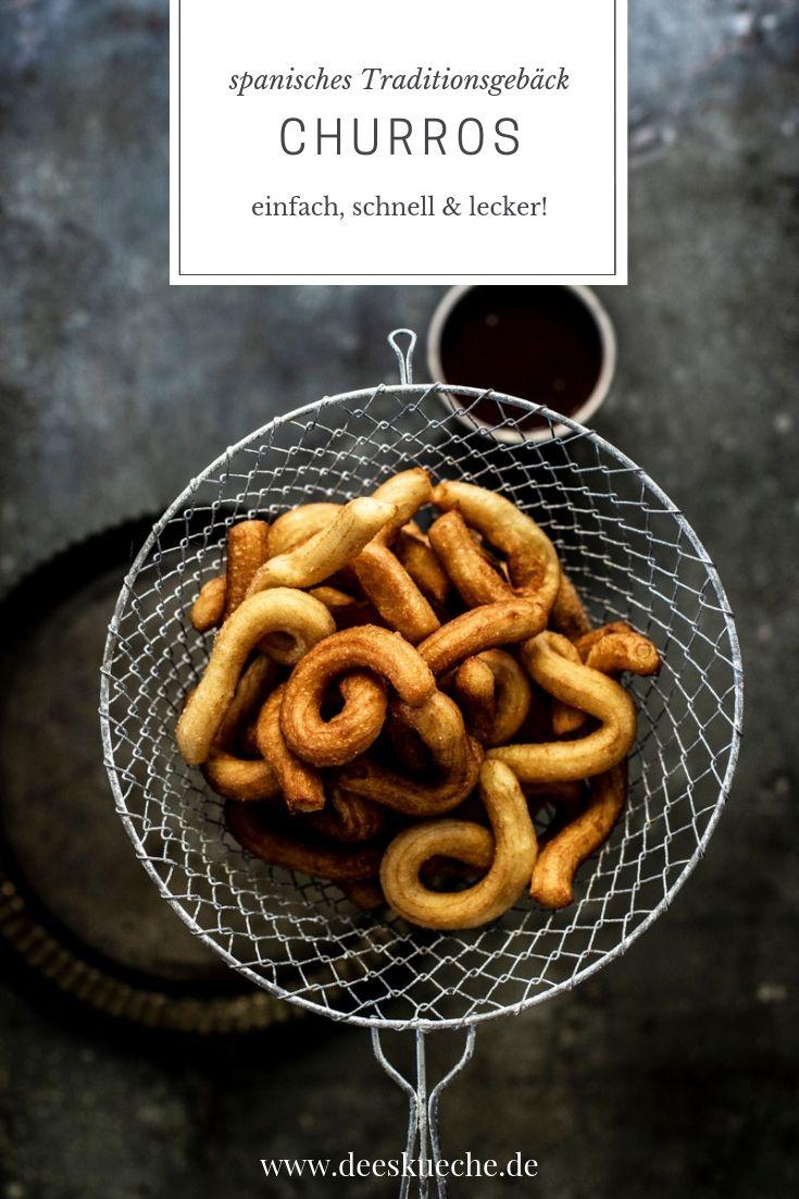 Churros Rezept ganz einfach selber backen #churros #brandteig #zimtzucker #rezept #einfach #frittieren #gebäck #spanischerezepte