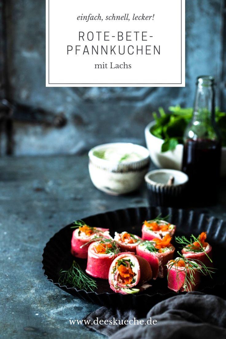 Roet-Bete-Pfannkuchen mit Lachs - so einfach get's! #pfannkuchen#rotebete #pfannkuchenmitlachs #lachsgerichte #rezepte #einfacherezepte #meerrettich