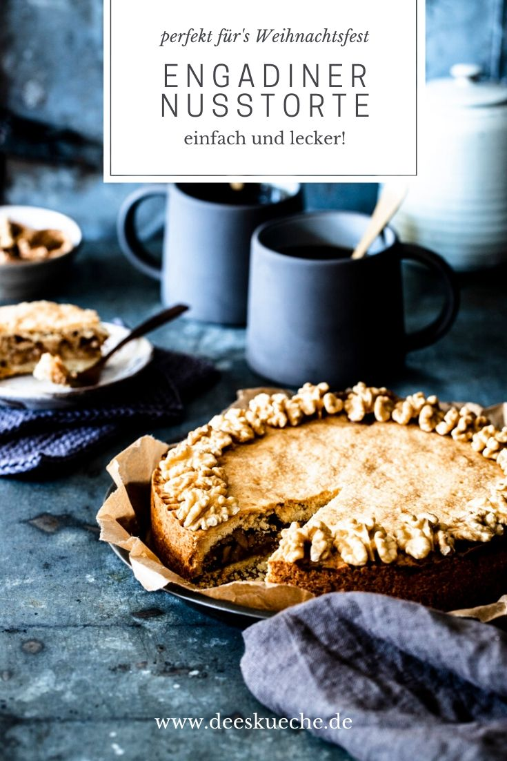 Engadiner Nusstorte mit Walnüssen - so einfach, so gut! #swisswalnutpie #engadinernusstorte #torte #nusstorte #büdnernusstorte #einfach #rezept #engadiner #bündner #nusstorte #pulttorte #graubünden