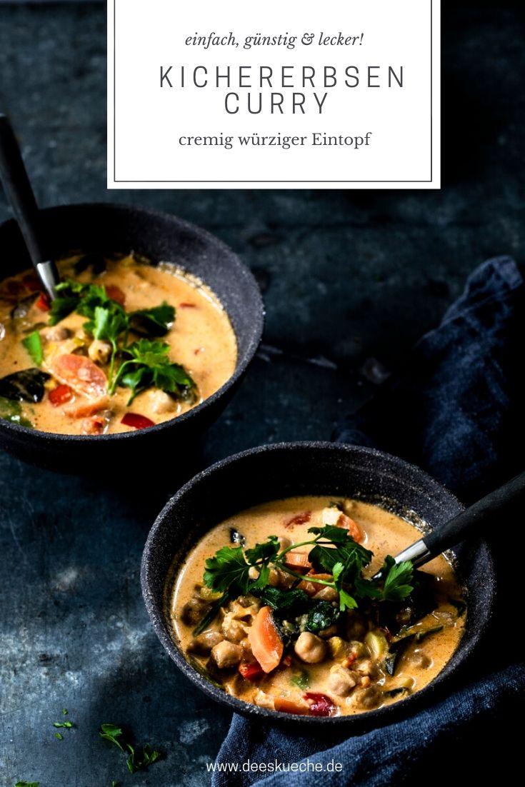 Kichererbsen Curry-einfach, günstig und extrem lecker! #curry #kichererbsen #vegetarisch #kicherersencurry #tomkhagai #rezepte #einfach #onepot #eintopf