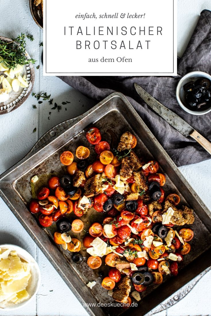 italienischer Brotsalat - einfach und schnell gemacht #einfach #italienscherbrotsalat #brotsalat #toskanischerbrotsalat #mediteran #herzhaft #rezept #tomatensalat #sommersalat #wintersalat