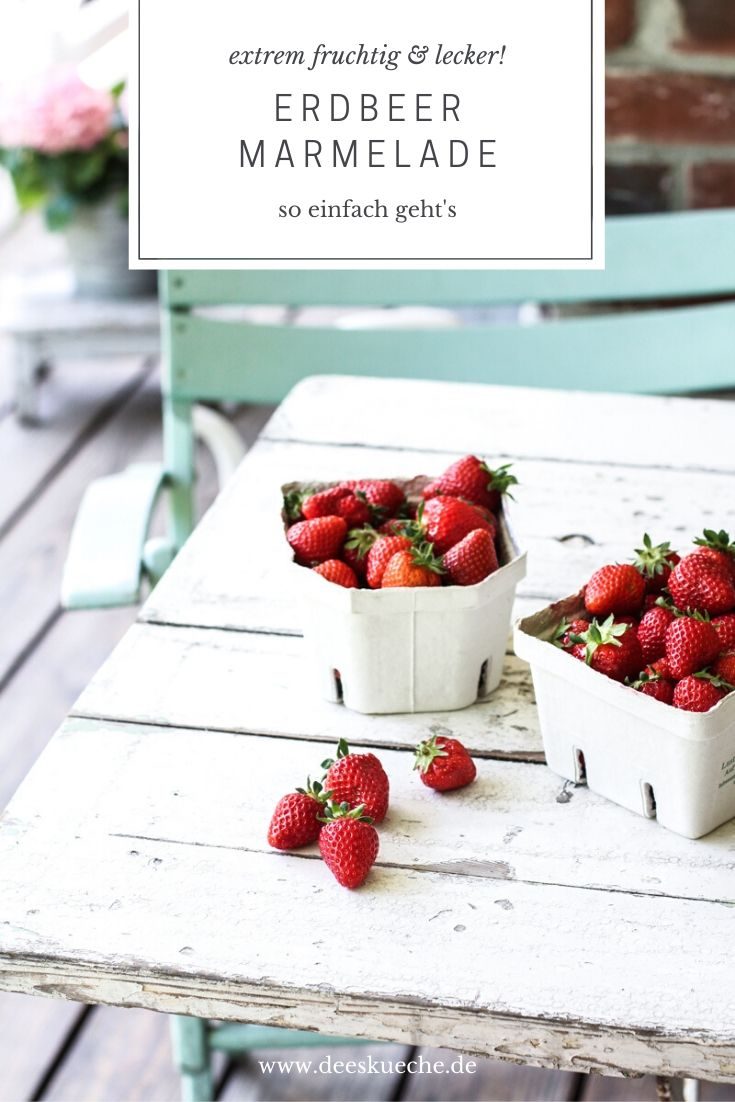Erdbeermarmelade #rezept #ohnezucker #rezepteinfach #ohnegelierzucker #rezeptmitvanille #mitrhabarber