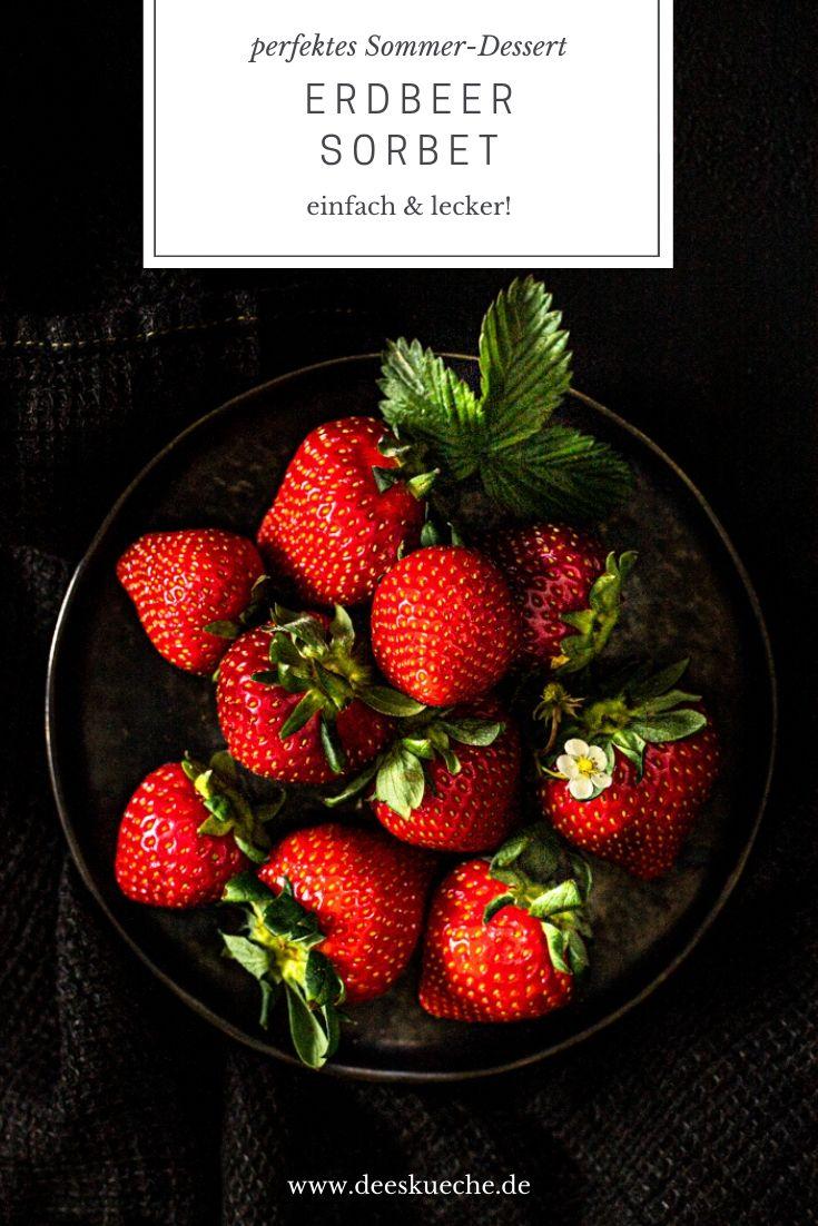 Erdbeersorbet ganz einfach selber machen! #ohne eismaschine #rezepte #himbeer #erdbeer #rezepteohneeismaschine #sobet #erdbeersorbet #himbeersorbet