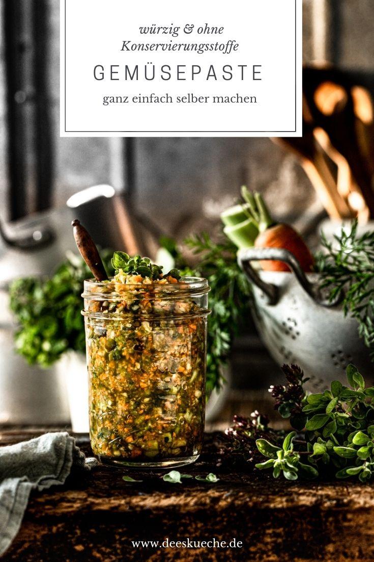 Gemüsesepaste selber machen - eine schnelle Alternative für den fertigen Brühwürfel und eine prima resteverwertung für übriggebliebens Gemüse #Resteverwertung #nachhaltig #rezepte #gemüsepaste #nachhaltig