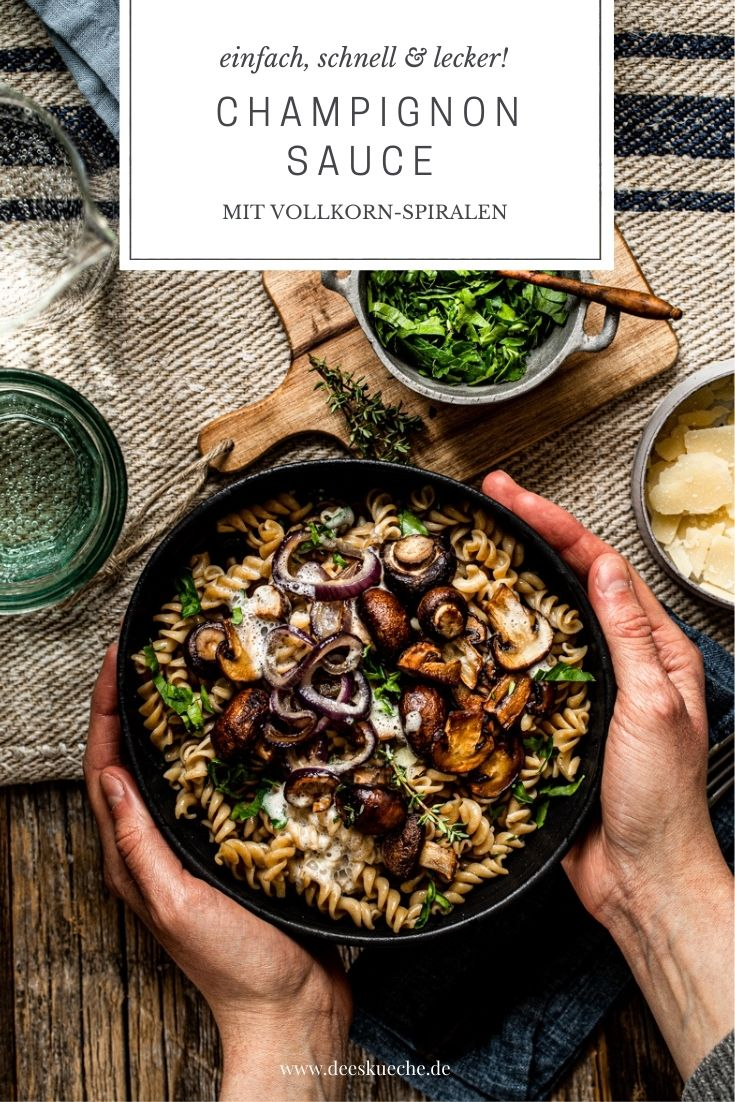 Champignonraumso mit Pasta - so einfach geht's!