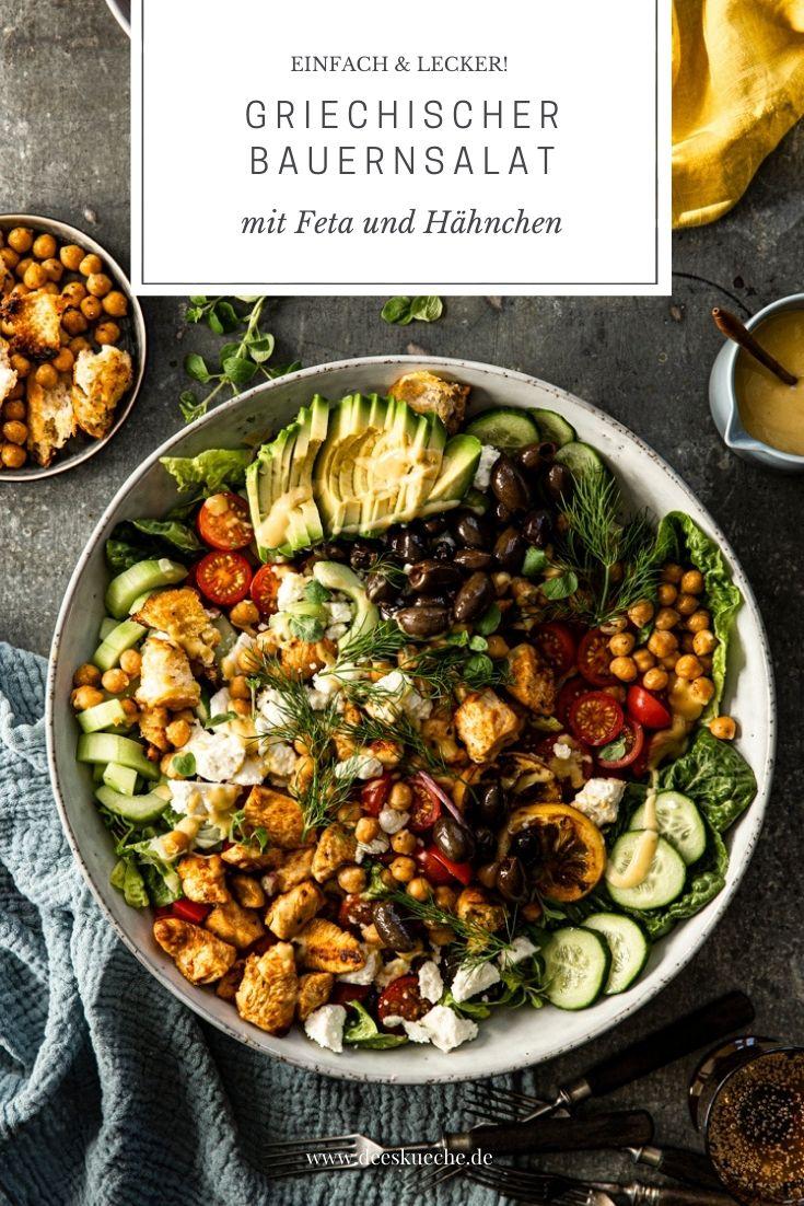 Griechischer Bauernsalat mit Feta und cremigem Dressing – so einfach und schnell gemacht!